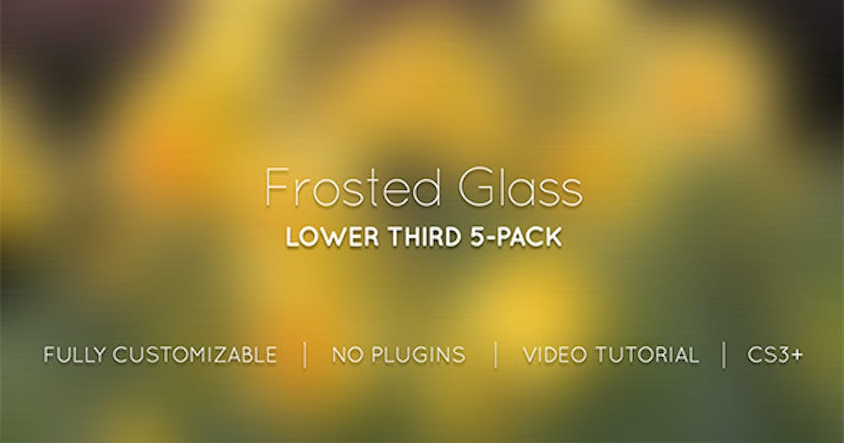 Download Frosted Glass Lower Thirds by MotionRevolver