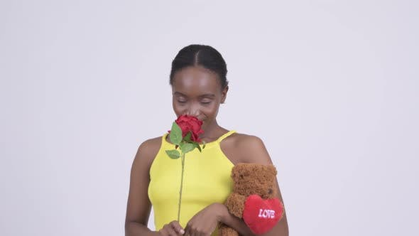 Thumbnail for Young Happy African Woman Ready for Valentine's Day
