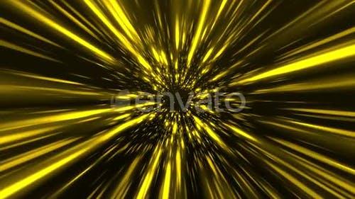 Golden Space Star Burst Tunnel 4K