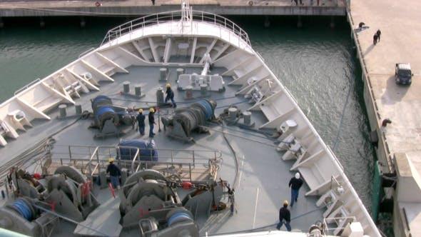 Cruise Ship Work On Deck Timelapse