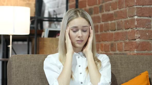 Headache, Frustrated Depressed  Woman