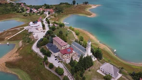 Thumbnail for Franciscan Monastery Of Rama Beside Ramsko Lake, Prozor Rama, Bosnia And Herzegovina V2