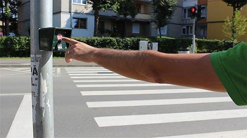 Crossing Street Semaphore Button