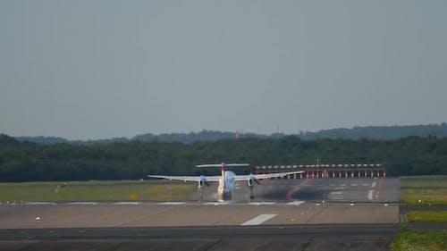 Turboprop Airplane Departure