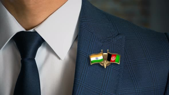 Thumbnail for Businessman Friend Flags Pin India Afghanistan