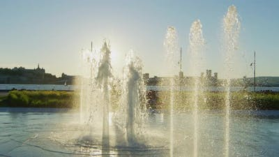 Fontaine Du Quai Paquet in Levis