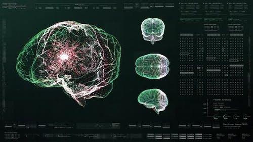 Biomedical Neuron Pathology And Diagnostic Scan 01