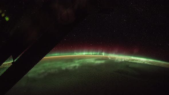 Thumbnail for Aurora over the Earth seen from International Space Station