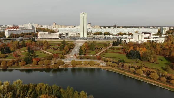 Thumbnail for Pond in Victory Park in Autumn in Zelenograd of Moscow Russia