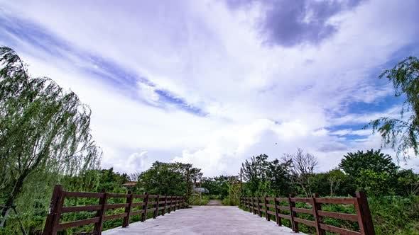 Thumbnail for Small Bridge Tree Iron Gate Landscape Time Delay