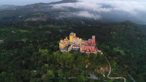 Thumbnail for Green Forest and Castle Aerial View