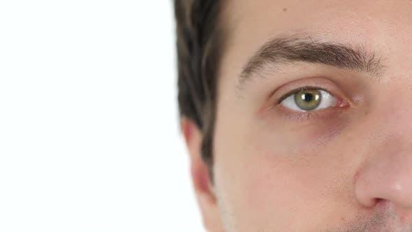 Thumbnail for Blinking One Eye of Man