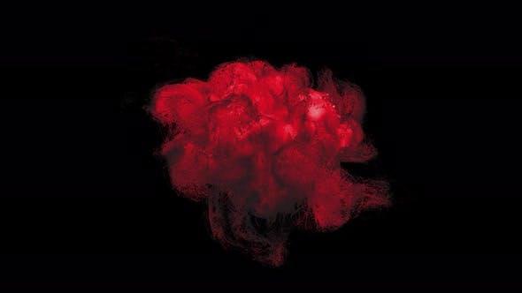 Abstract Red Smoke Turbulence Seamless Loop