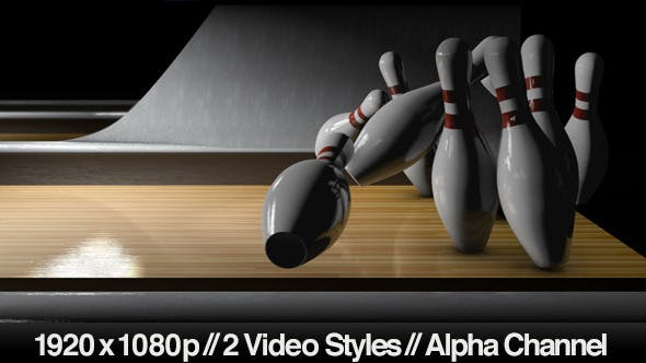 Thumbnail for Bowling Ball Close Up Hitting Pins