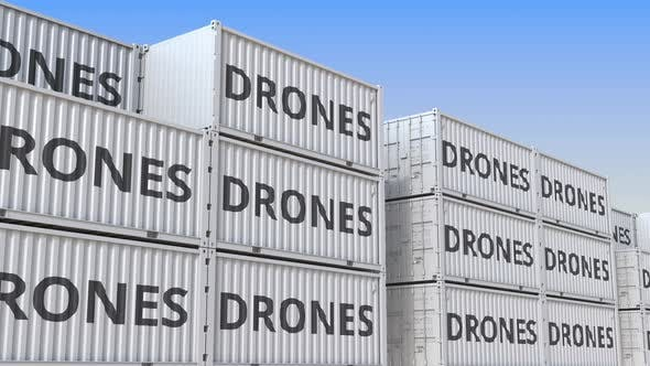 Cargo Containers with Drones
