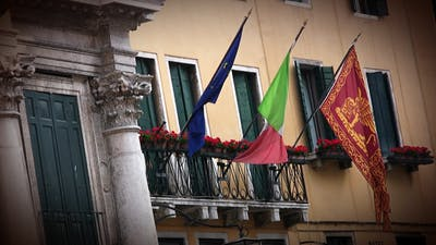 Flags in Venice