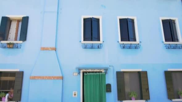 Thumbnail for Panorama of Wonderful Blue House in Burano, Neighborhood, Doll-Like Building