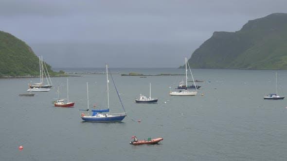 Thumbnail for Anchored boats on a lake
