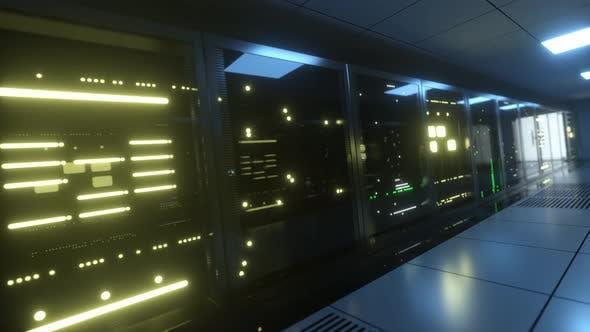 Riesige Blöcke von Serverdaten im Raum