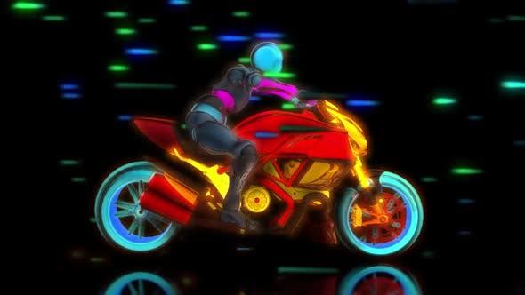 Thumbnail for Neon Motobike