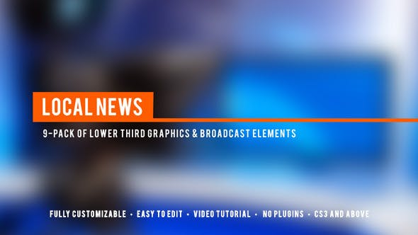 Thumbnail for Local News Broadcast Lower Third Package
