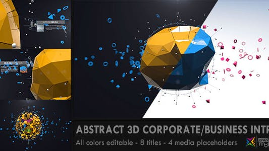 Abstract 3D Entreprise Business Intro