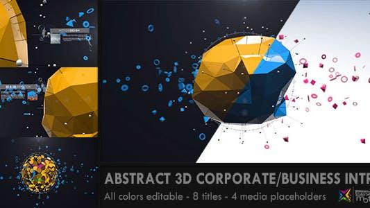 Cover Image for Аннотация 3D Корпоративный бизнес Интро
