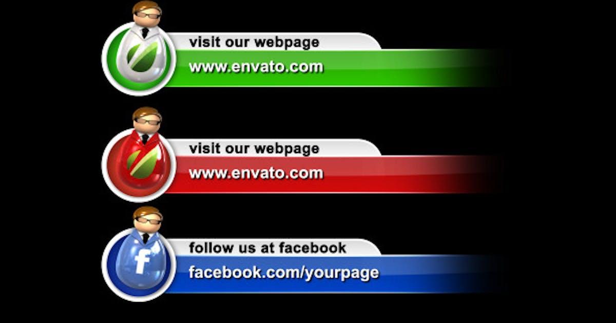 Download Social Media Man Icons Lower Third Pack by VolkanKutlubay