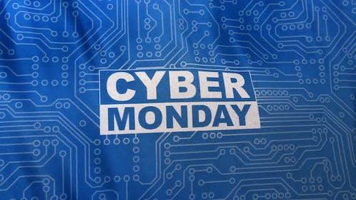 Blue Cyber Monday Social Media Banner Loop