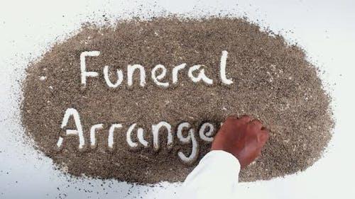 Paprika Hand schreiben Beerdigung Arrangement