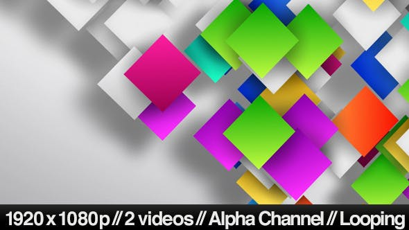 Thumbnail for Colorful Gradient Squares Loop on Clean Background