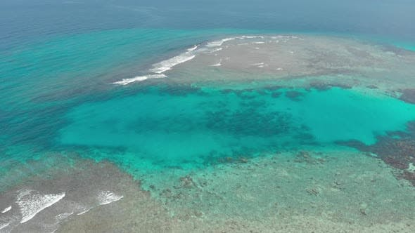 Thumbnail for Flying Over Tropical Islands Caribbean Sea Coral Reef Indonesia Sumatra Banyak Islands