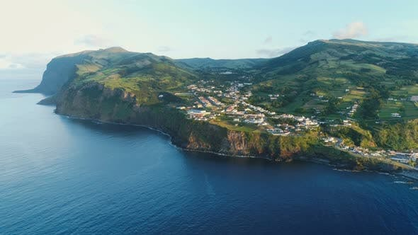 Thumbnail for Aerial View Of Beautiful Island At Sunrise