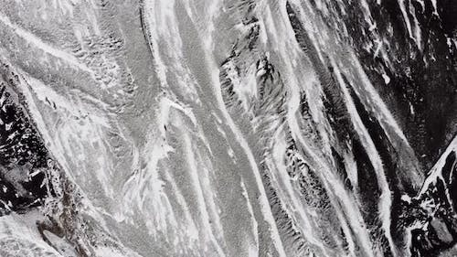 Rippled, Deserted and Baron Icelandic Landscape Seen From the Air