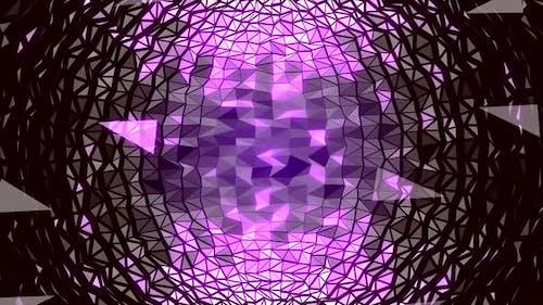 4K Abstract Purple Sphere Plexus Digital Polygon Background Seamless Loop