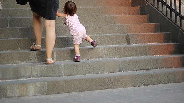 Thumbnail for Little Girl Climbing Stairs