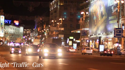 Cover Image for Night Traffic Cars