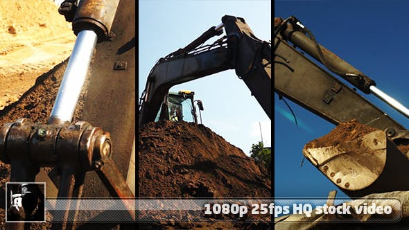 Thumbnail for Road Construction -- Excavator Pack 1 (3 Shots)
