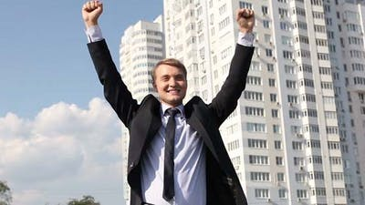 Triumphant Businessman