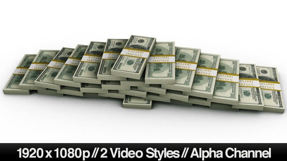 Thumbnail for Financial Money Pyramid of $100 Bills + 2 Styles