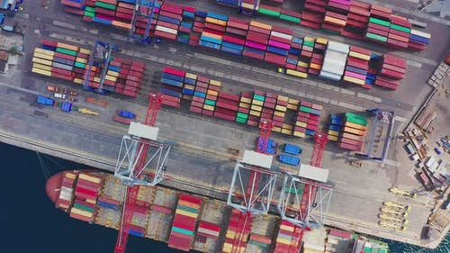 Shipping Containers Harbor Terminal