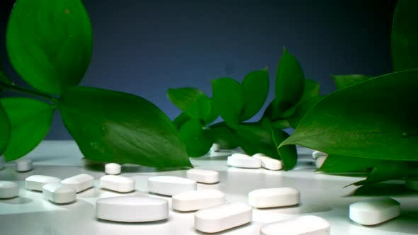 Combination Of Green Leaves And Medicaments