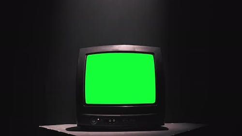 Retro Television with Green Screen.  )