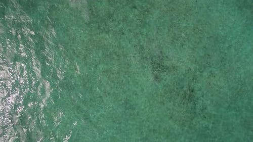 Aerial View of Ocean Blue Water with Waves