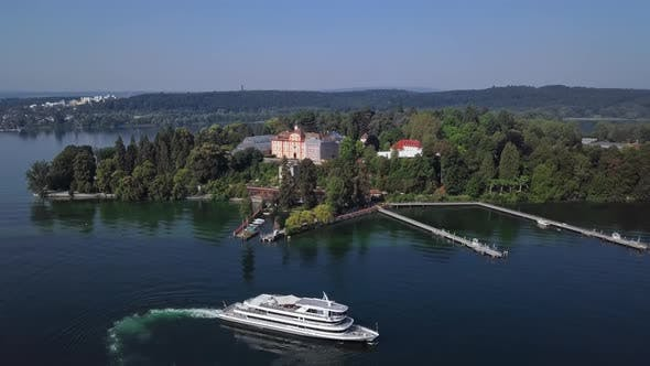 Aerial View of Mainau Island, Germany