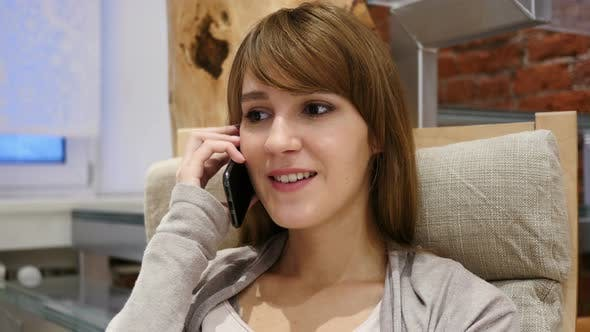 Thumbnail for Woman Talking on Smartphone, Attending Phone Call