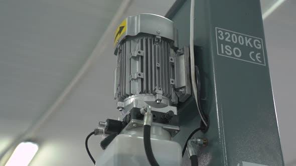 Compressor Engine At Car Service