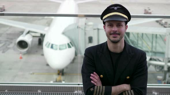 Thumbnail for Young Male Airline Pilot at Airport Terminal