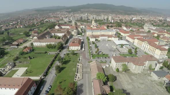 Aerial view of the Alba Iulia medieval citadel