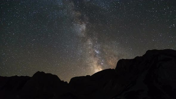 Thumbnail for Milky Way Over The Mountain Peaks